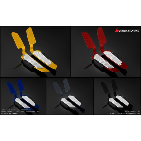 Foot Plates with Extra-Protection Bikers Honda Forza 125 2018 2019