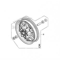 Front Wheel Assembly Honda Forza Nss 300